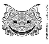 Vector Decorative Cheshire Cat...