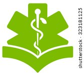 medical knowledge vector icon....   Shutterstock .eps vector #323181125