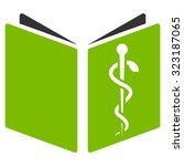drug handbook vector icon.... | Shutterstock .eps vector #323187065