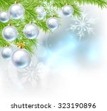 blue and silver abstract... | Shutterstock .eps vector #323190896