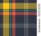 Tartan pattern. Scottish traditional fabric seamless vector. White on black background. Suitable for children, decoration paper, home, design, concept, clothing, handicraft & scrap booking.