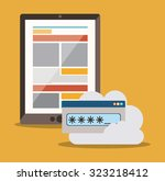 data base concept and cloud... | Shutterstock .eps vector #323218412