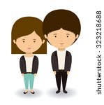 couple concept with boy and... | Shutterstock .eps vector #323218688
