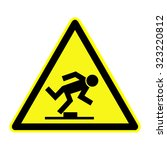 tripping danger sign | Shutterstock .eps vector #323220812