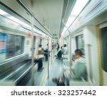 people in subway train | Shutterstock . vector #323257442