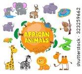 african animals | Shutterstock .eps vector #323259662