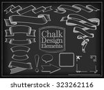 raster illustration chalk... | Shutterstock . vector #323262116