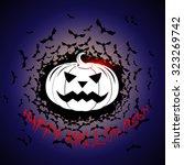 halloween pumpkin vector... | Shutterstock .eps vector #323269742