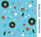 christmas pattern   Shutterstock .eps vector #323278682
