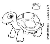 Paw Print With Turtle Coloring...