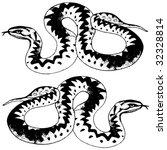 two snakes | Shutterstock .eps vector #32328814