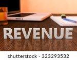 revenue   letters on wooden... | Shutterstock . vector #323293532