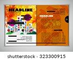 layout magazine. editable vector | Shutterstock .eps vector #323300915