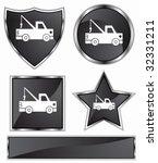 tow truck black | Shutterstock .eps vector #32331211