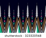 geometric ethnic pattern... | Shutterstock .eps vector #323320568