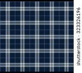 seamless knitted plaid pattern   Shutterstock .eps vector #323326196