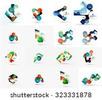 set of abstract geometric paper ... | Shutterstock . vector #323331878
