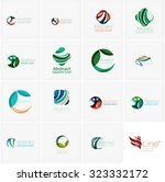 set of abstract wavy elements.... | Shutterstock . vector #323332172