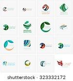 set of abstract wavy elements.... | Shutterstock . vector #323332172