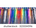 many colours splash dripping... | Shutterstock . vector #323334596