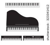 Piano Vector Icon Set
