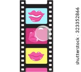 vector illustration of a film... | Shutterstock .eps vector #323352866