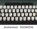 old typewriter   Shutterstock . vector #323360246