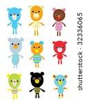 teddy doodle | Shutterstock .eps vector #32336065