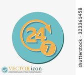 24 7 icon. open 24 hours a day... | Shutterstock .eps vector #323361458