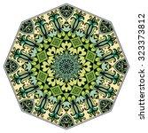 mandala geometric round... | Shutterstock .eps vector #323373812