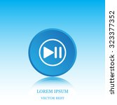pause button vector icon | Shutterstock .eps vector #323377352