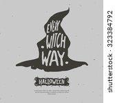 "halloween vector illustration. ""... | Shutterstock .eps vector #323384792"