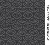seamless dark gray luxury art... | Shutterstock .eps vector #323387468