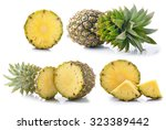Fresh Whole Pineapple Isolated...