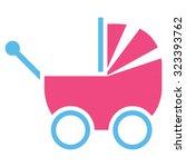 baby carriage vector icon.... | Shutterstock .eps vector #323393762