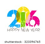 happy new year 2016 | Shutterstock .eps vector #323396765