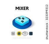 mixer icon  vector symbol in...