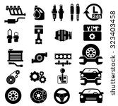 vector car parts set icons    Shutterstock .eps vector #323403458