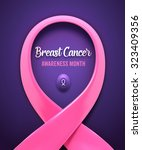 breast cancer pink ribbon.... | Shutterstock .eps vector #323409356