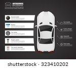 car auto service infographics... | Shutterstock .eps vector #323410202