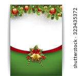 merry chrismas background with... | Shutterstock .eps vector #323435372