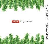 vector christmas tree border ... | Shutterstock .eps vector #323439212
