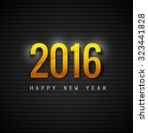 text for new year 2016 vector... | Shutterstock .eps vector #323441828