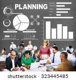 planning bar graph data...   Shutterstock . vector #323445485