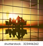 business team discussion... | Shutterstock . vector #323446262