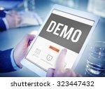 demo preview trailer trial...   Shutterstock . vector #323447432