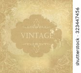 aged vintage ornamental old... | Shutterstock .eps vector #323447456