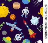 space cartoon seamless pattern. ...   Shutterstock . vector #323453978