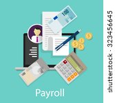 payroll salary accounting... | Shutterstock .eps vector #323456645