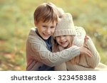little children walking in the... | Shutterstock . vector #323458388